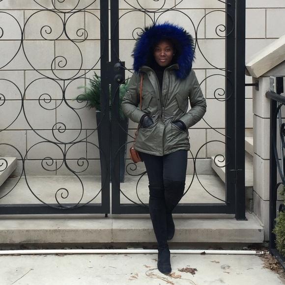 6e77dd0106b SAM. Jackets & Coats | Sam Mini Hudson Parka W Blue Fur | Poshmark